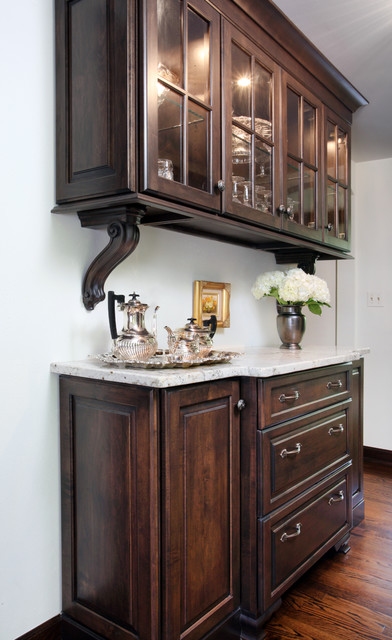 Butler's Pantry in Vintage Tudor Style Home - Traditional - Hall - Chicago - by Normandy Remodeling