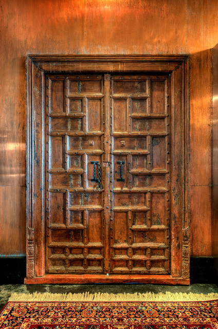 Antique Chinese Door Set Into Copper Panel Wall Rustichall. Bathroom Remodel Before And After. Pid Floors. Girls Bathroom. Wonderful Windows. Partition Doors. Silver Orb Chandelier. Basement Decor. Down Filled Sofa