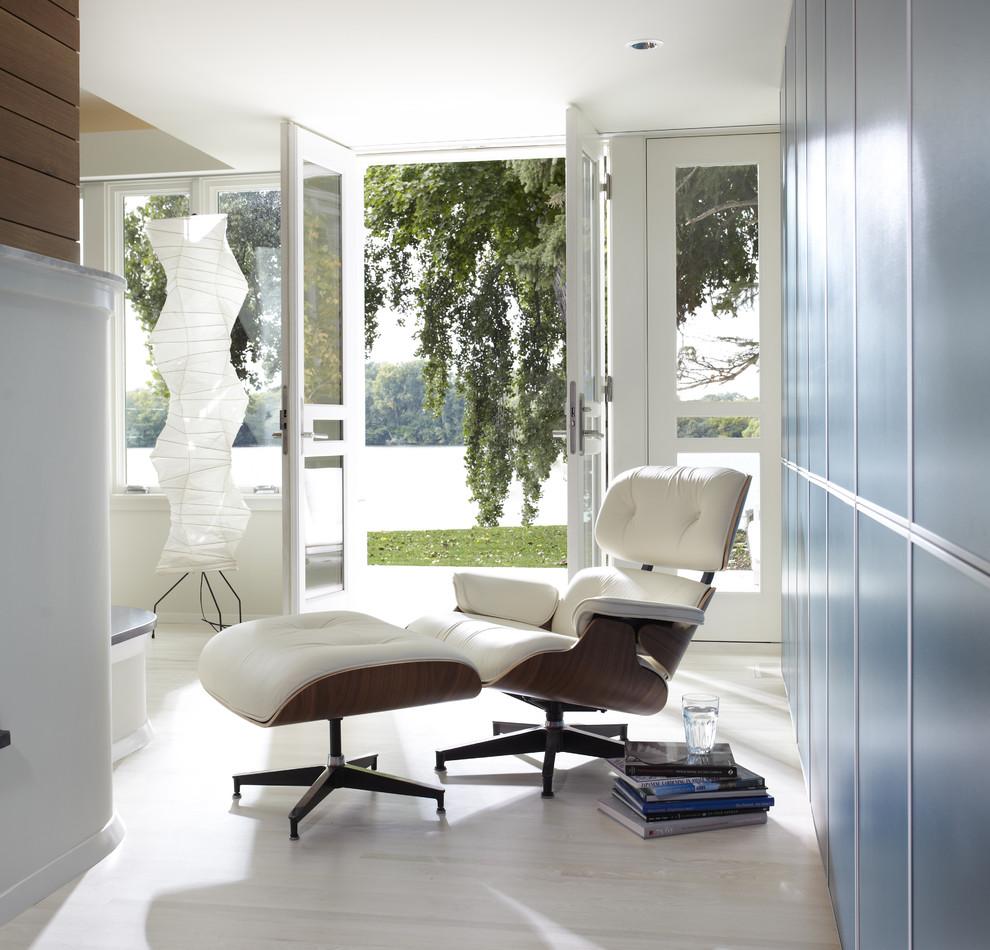 Eames Lounge Chair Living Room cedar lake international style - contemporary - hall