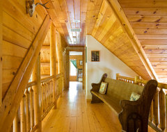 Chesapeake Bay waterfront Log Home traditional-hall