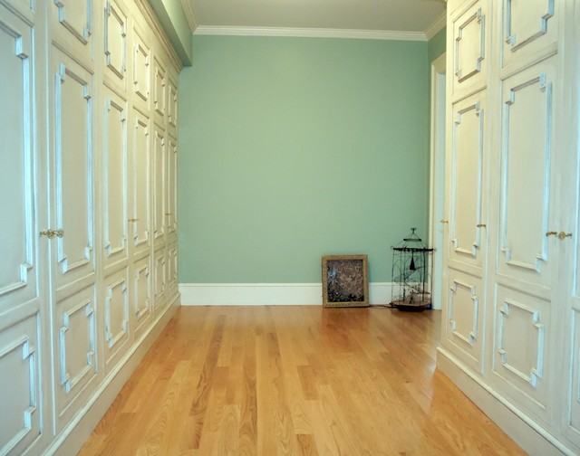 Chestnut Hill built in wall storage traditional-hall