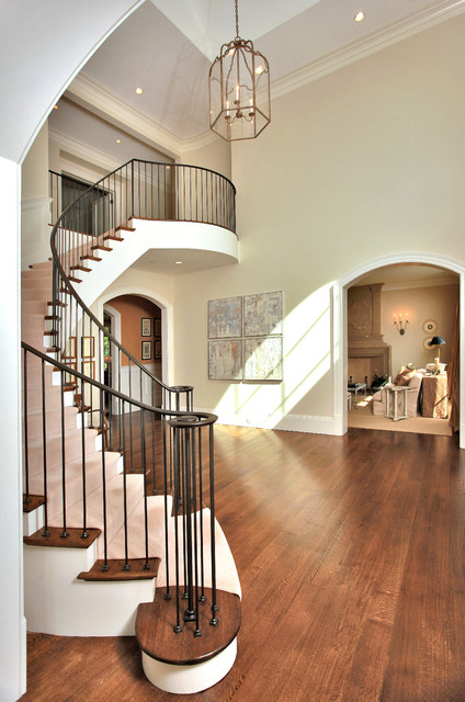 Dramatic Foyer Lighting : Chic dramatic foyer transitional hall dc metro by