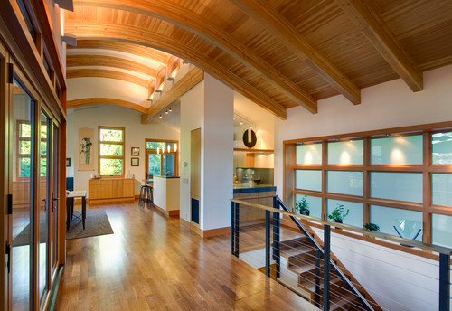 curved ceiling beams