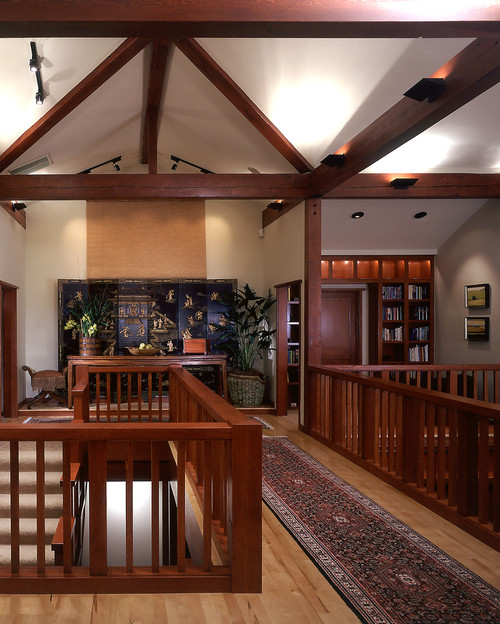 Arts and crafts style architecture thrives in this craftsman house