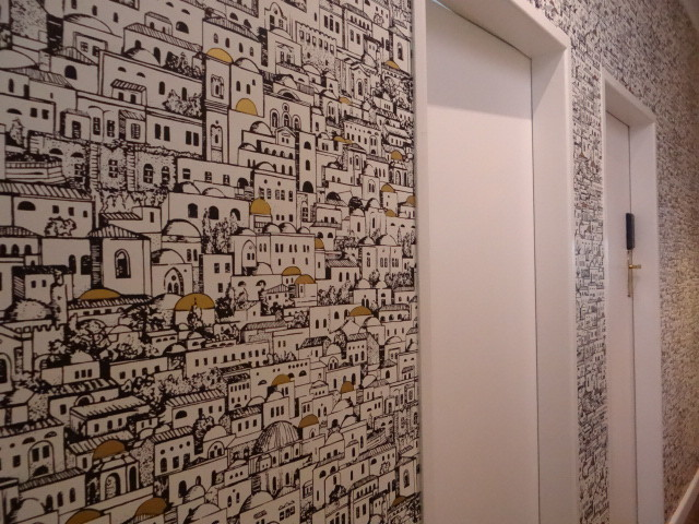 Wallpaper Designs For Hall : Cole sons mediterainea wallpaper hallway mediterranean