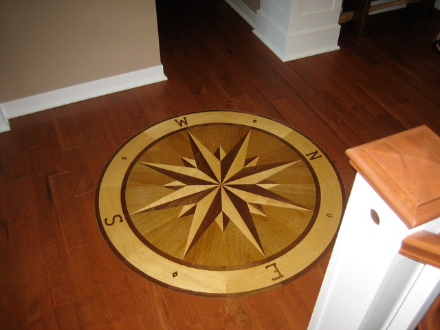 Compass Rose Floor Tile : Compass rose hardwood floor medallion quot namaka style