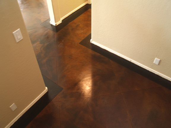 Concrete Overlay Stain With Cuts