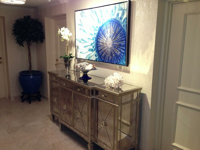 Light Sconces For Living Room Condo Elevator Lobby AFTER - Contemporary - Hall - other ...