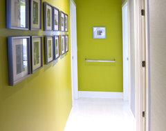 Condo Unit  Interior Renovation contemporary-hall