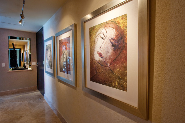 Contemporary Art Gallery Hallway - Contemporary - Hall - Other ...