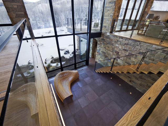 contemporary atrium contemporary hall denver by 186 lighting design group gregg mackell. Black Bedroom Furniture Sets. Home Design Ideas