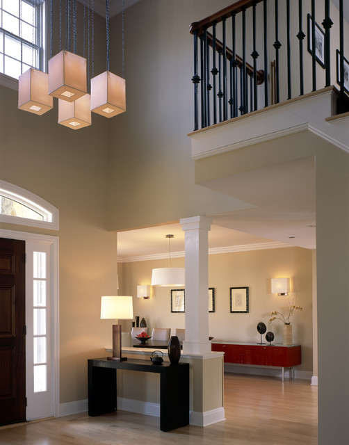 Foyer Design Modern : Contemporary foyer hall new york by