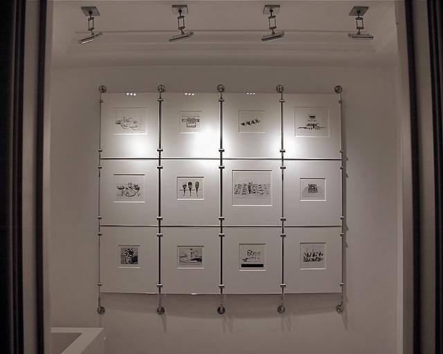 Wayne Thiebaud Print Display contemporary-hall