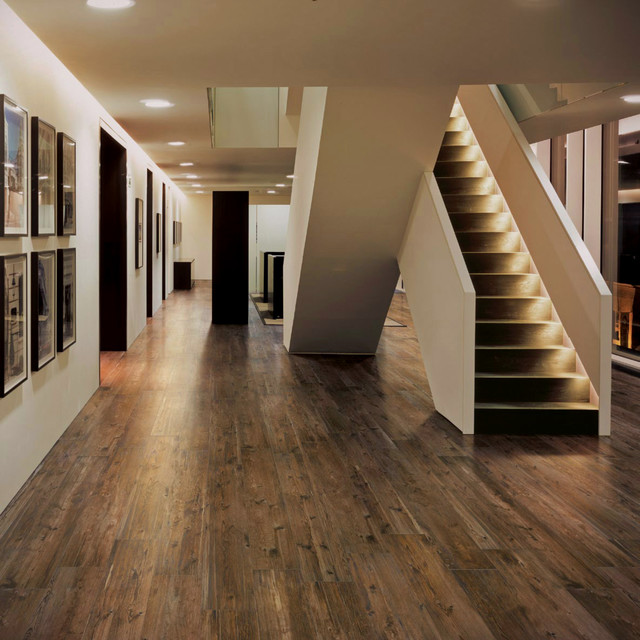 Olde Barn Wood PorcelainTile - Contemporary - Hall - detroit - by ...