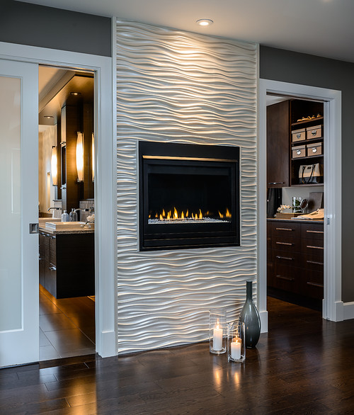 Ideas For Tile Around Fireplace: Love The Wavy Tile Around The Fireplace. Where Did You Get It?