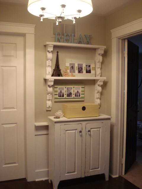 Corbel's make great shelves traditional-hall