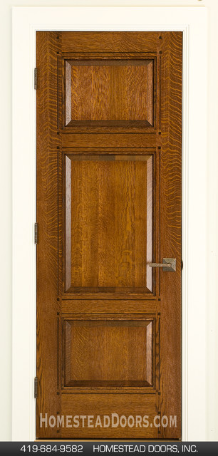 Craftsman Doors 3-panel Quartersawn White Oak craftsman-hall