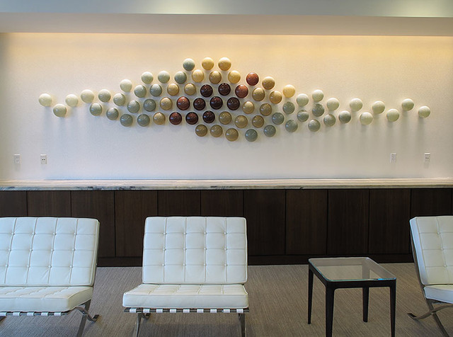 Wall Art Contemporary Glass : Custom art glass wall sculpture contemporary hall