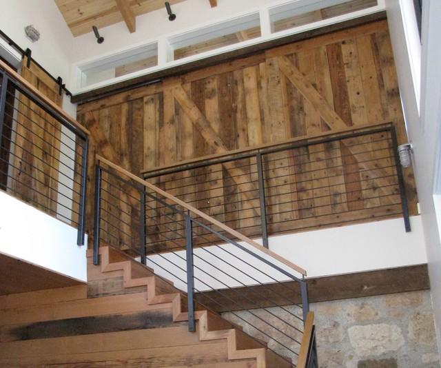 Custom sliding barn wood doors rustic hall san for Salvaged wood san francisco