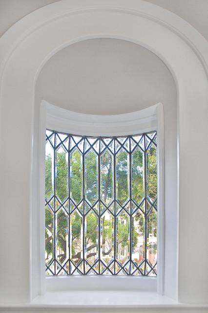 Decorative Leaded Glass Window Traditional Hall San