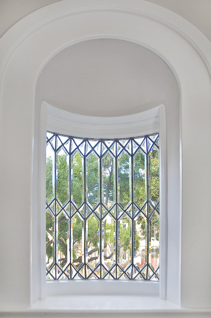 Decorative Leaded Glass Window Traditional Hall San
