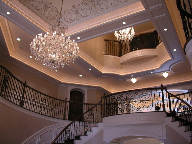 Detailed Foyer Ceiling traditional-hall