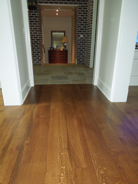 Durango hardwood floors transitional hall other for Old world floors