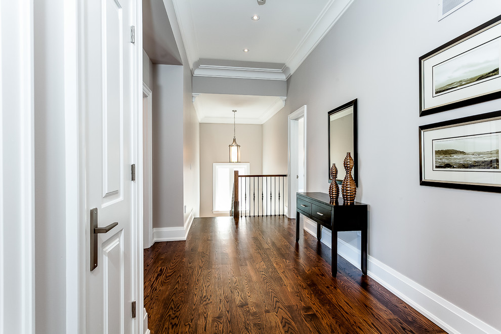 Inspiration for a transitional hallway remodel in Toronto