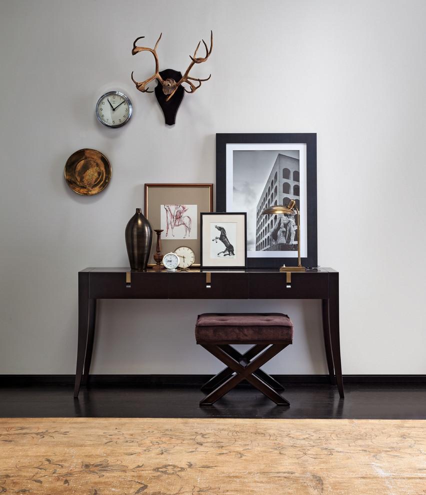 卧室背景墙混搭风格装潢设计图片