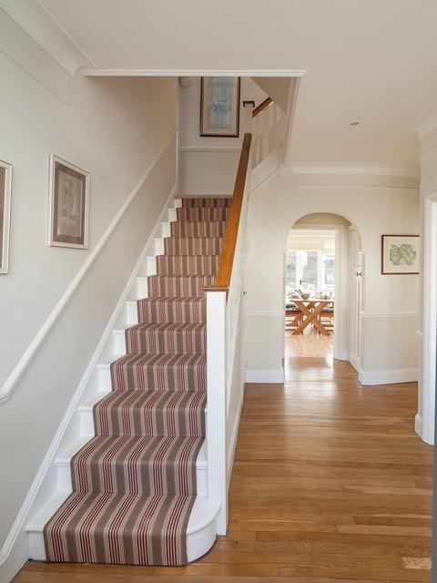 Edwardian Family Home Surrey Traditional Hallway