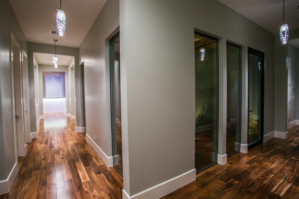Inspiration for a contemporary hallway remodel in Las Vegas