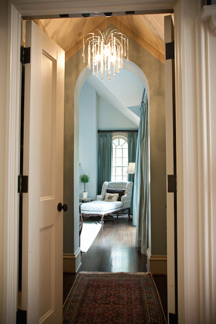 Elegant master bedroom Hallway to master bedroom