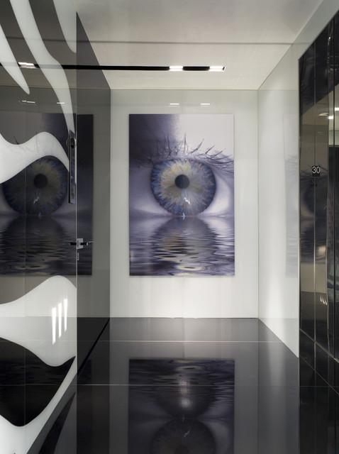 Elevator foyer modern hall miami by nieto design group for Modern elevator design