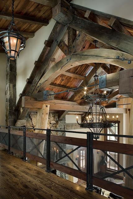 Elk Ridge Lodge Interior traditional-hall