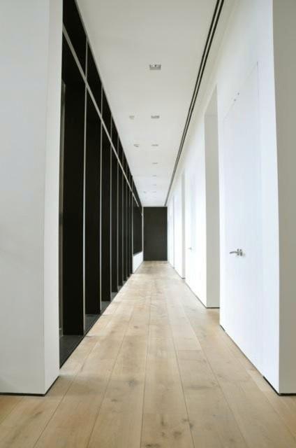 "European White Oak 10' x 10"" Flooring contemporary-hall"
