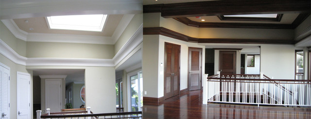 Faux Finish Crown Molding Doors And Baseboards
