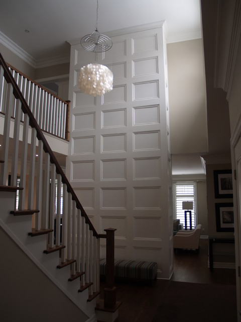 Feature Wall - Coffered Ceiling traditional-hall