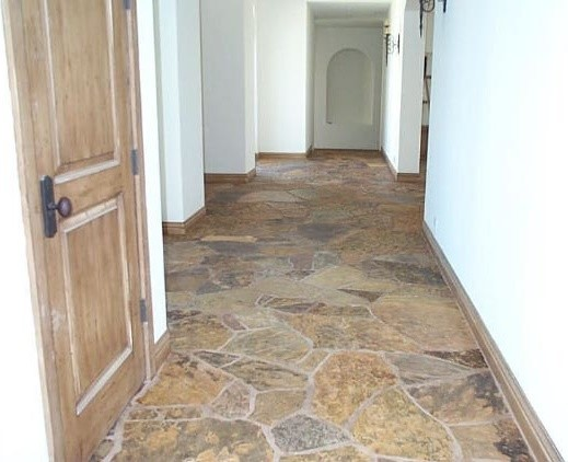 flagstone paving ideas outdoors and indoors traditional hall