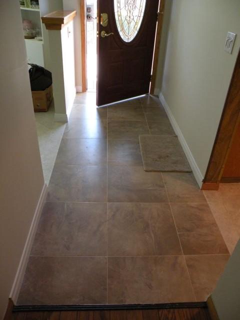 Floor tiles contemporary-hall