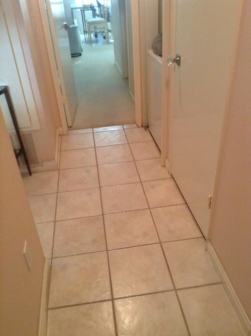 Condo flooring redo (contemporary) -- large format terrazzo tile