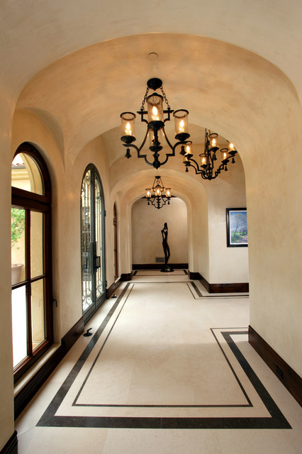 Focus on the Floor - Mediterranean - Hall - Orange County ... on contemporary marble floor, white marble floor, shiny marble floor,