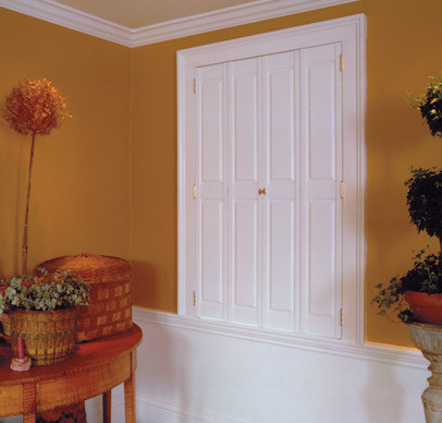 Four Solid Raised Panels Traditional Interior Shutters Boston By Back Bay Shutter Co Inc