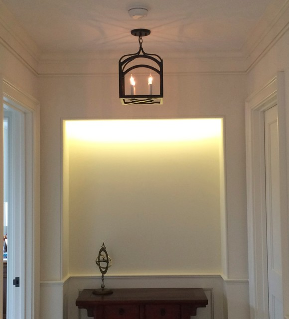 Foyer Ceiling Questions : Foyer hallway lighting transitional hall chicago