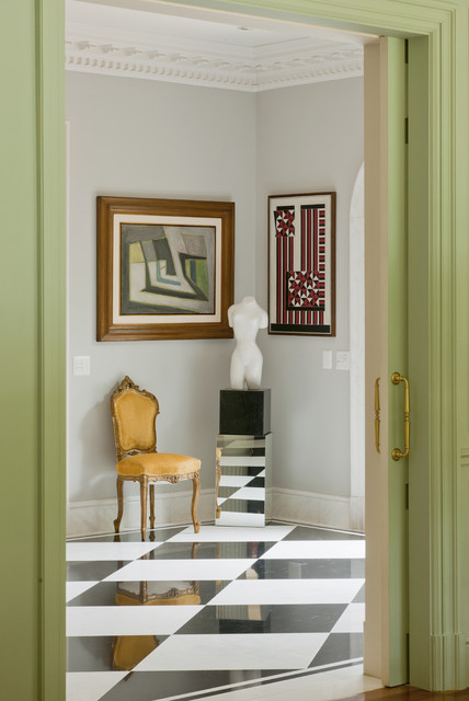 French Chateaux traditional-hall