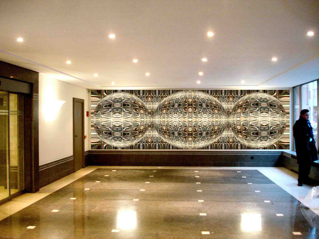 Fresco modern hall other metro by charline lancel - Moderne fresco ...