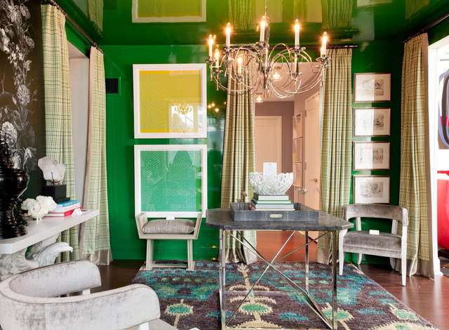 contemporary hall by Rikki Snyder  Pantone Color of 2013: Emerald Decorations contemporary hall