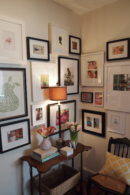 eclectic hall Gallery Wall