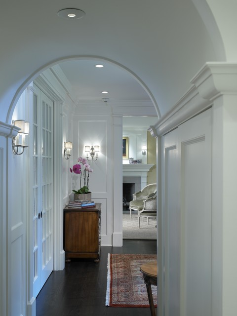 Georgian Rebirth Hallway Arch - Traditional - Hall ...