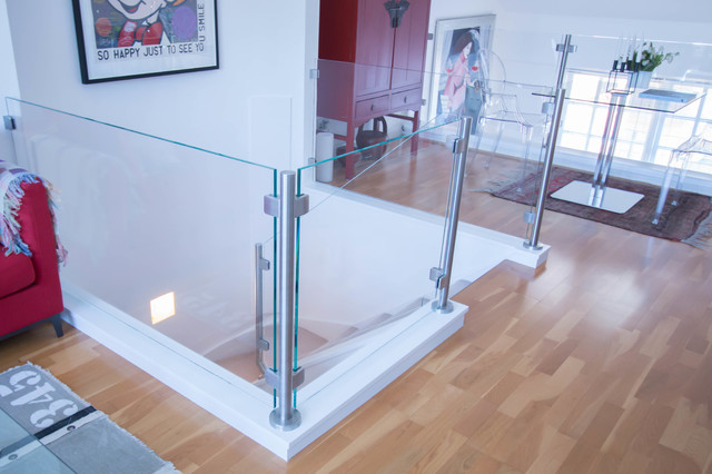 Glass Balustrade To The Existing Stairs Top Landing And Mezzanine
