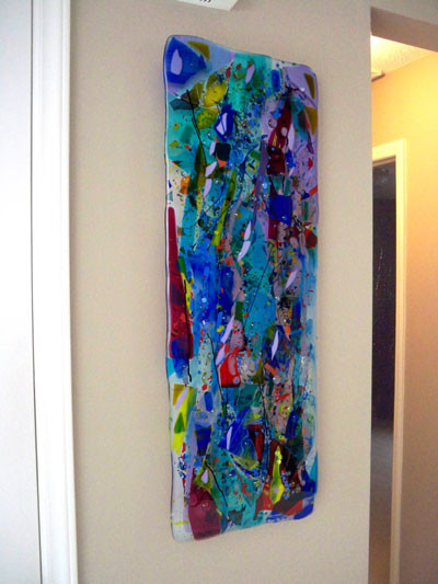 Wall Art Contemporary Glass : Glass wall art panels